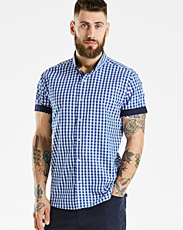 Jacamo Black Label Gingham S/S Shirt L
