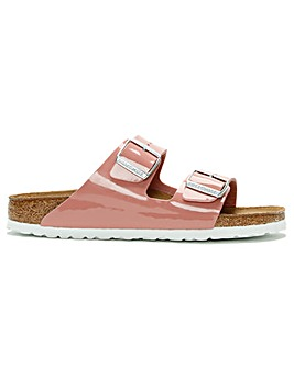 Birkenstock Arizona Patent Birko-Flor Two Bar Mules Standard Fit