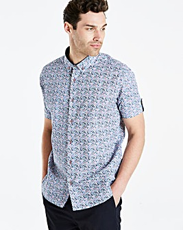 Jacamo Black Label floral SS Shirt Long