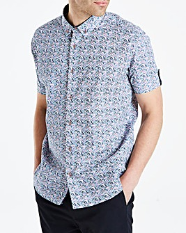 Jacamo Black Label floral SS Shirt R