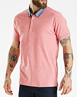 Red Stripe Trim Polo Long