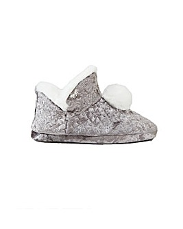 Pretty You London Afton Bootie Slippers for Women