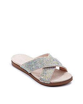 Paradox London Wisdom E Wide Fit Sandals