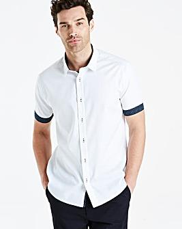 White Texture S/S Slim Shirt R