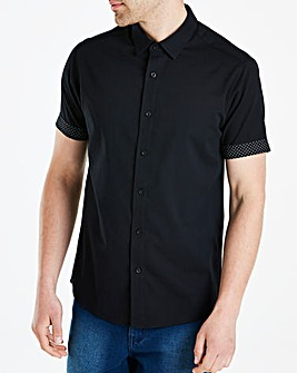 Jacamo Black Label Black S/S Shirt R