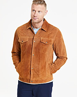Flintoff By Jacamo Suede Jacket