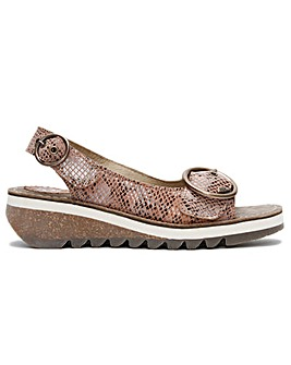 Fly London Tram II Leather Sandals