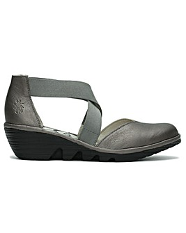 Fly London Paco Cross Strap Wedge Shoes