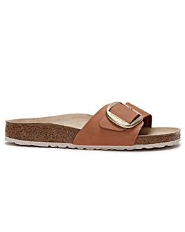 Birkenstock Madrid Big Buckle Nubuck Leather Mules