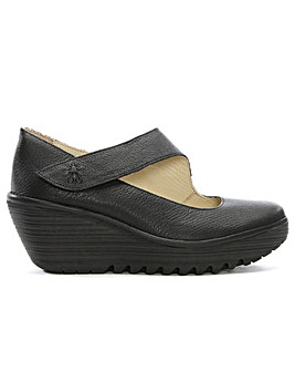 Fly London Yasi Mary Jane Wedge Shoes