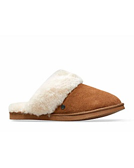 Padders Cosy Mule Slippers Wide EE Fit
