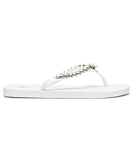 DF By Daniel Crystoe Embellished Flip Flops