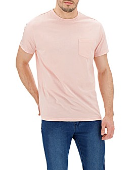 Baby Pink Pocket Crew T-Shirt