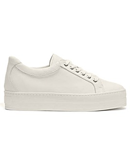 Daniel Piccadilly Circus Leather Flatform Trainers