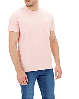 Baby Pink Pocket Crew T-Shirt Long