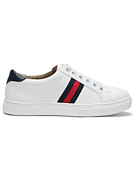 DF By Daniel Striper Three Stripe Lace Up Trainers