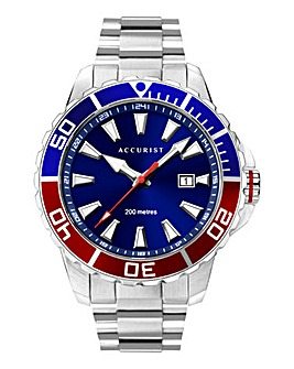 Accurist Blue Dial Divers Style Watch