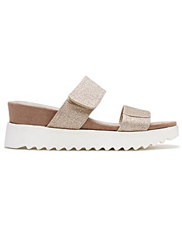 DF By Daniel Yara Glitter Two Bar Sandals