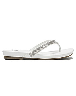 DF By Daniel Lilow Diamante Toe Post Flip Flops