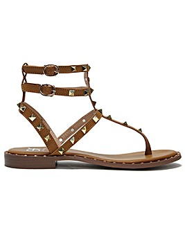 DF By Daniel Cube Square Studded Gladiator Sandals