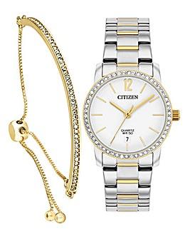 Citizen Watch and Swarowski Bracelet Set