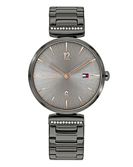 Tommy Hilfiger Pewter Bracelt Watch