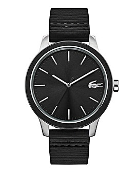 Lacoste Silicon Black Sport Watch