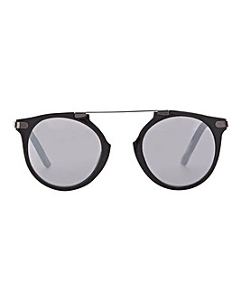Harley Round Sunglasses With Brow Bar