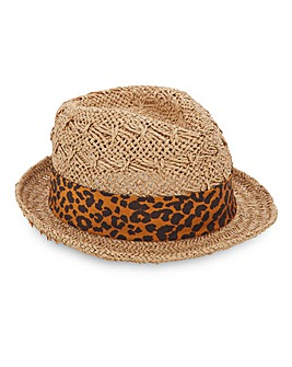 Leopard Print Band Trilby