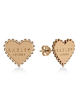 Radley 18ct Gold Plated Heart Earrings