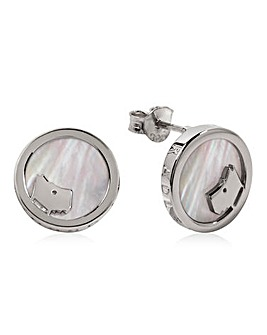 Radley Mother Of Pearl Circle Earrings