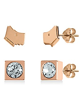 Radley Jewellery Rose Gold Stud Earrings
