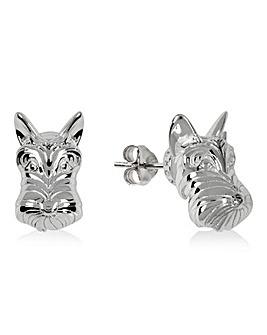 Radley Sterling Silver Dog Head Earrings