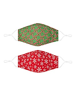 Snowflake & Candy Cane Face Coverings
