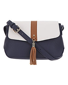 Colour Block Tassel Cross Body