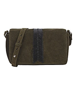 Suede Whip Stitch Cross Body Bag
