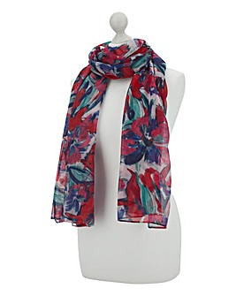 Floral Blooms Lightweight Scarf