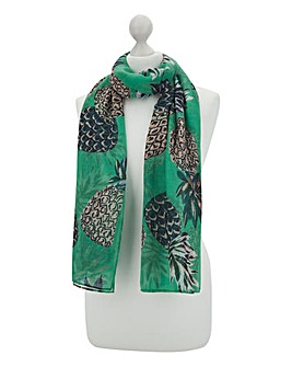 Pineapple Summer Print Scarf