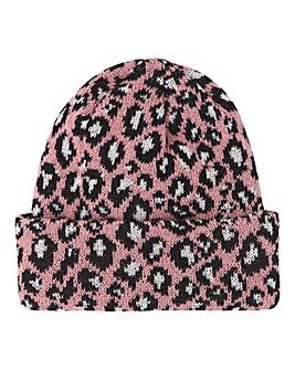 Leopard Beanie Pink