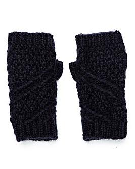 Caroline Knitted Mitt Navy