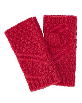 Caroline Knitted Mitt Pink