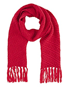 Caroline Pink Knitted Scarf