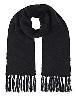 Caroline Navy Knit Scarf
