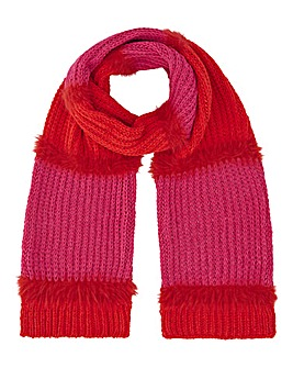 Berlin Pink and Red Knitted Scarf