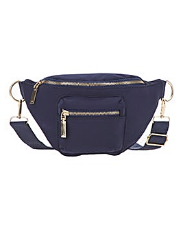 Nylon Belt Bag with front zip pocket