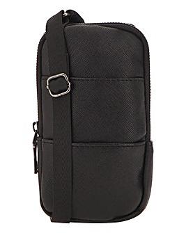 Black Mini Cross Body Bag With Pouch