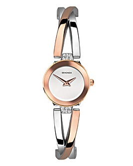 Sekonda Two-Tone Semi-Bangle Watch