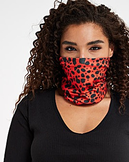 Red Leopard Snood