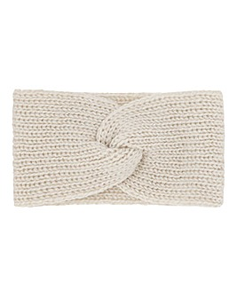Cream Twist Knitted Headband