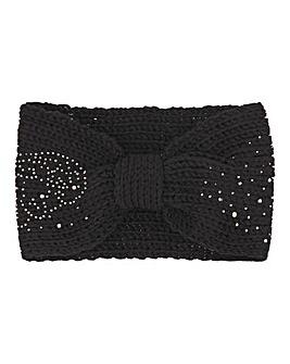 Black Sparkle Knitted Headband